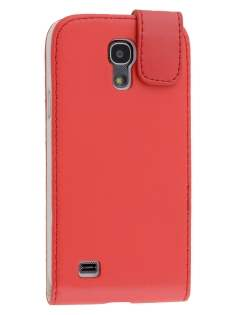 Synthetic Leather Flip Case for Samsung Galaxy S4 mini - Red Leather Flip Case
