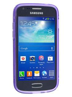 Samsung Galaxy Ace 3 Wave Case - Frosted Purple/Purple