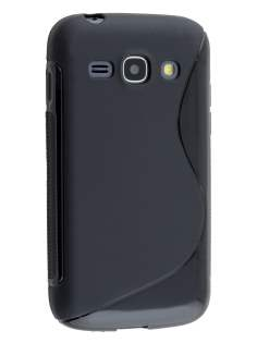 Wave Case for Samsung Galaxy Ace 3 - Frosted Black/Black Soft Cover