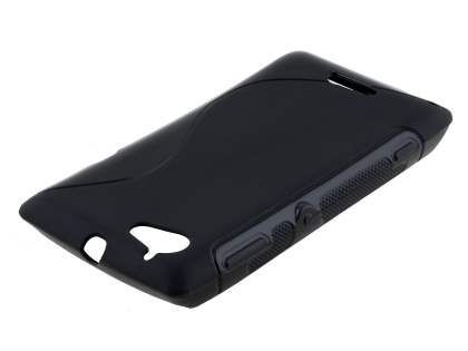 Wave Case for Sony Xperia L - Frosted Black/Black Soft Cover