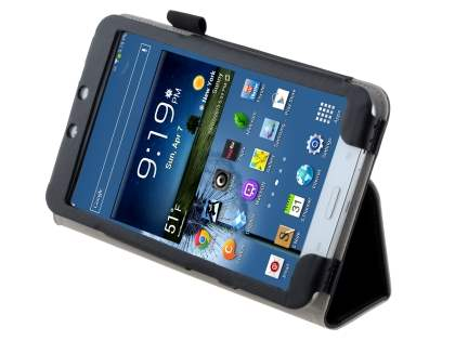 Samsung Galaxy Tab 3 8.0 Synthetic Leather Flip Case with Fold-Back Stand - Classic Black