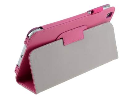 Synthetic Leather Flip Case with Fold-Back Stand for Samsung Galaxy Tab 3 8.0 - Pink