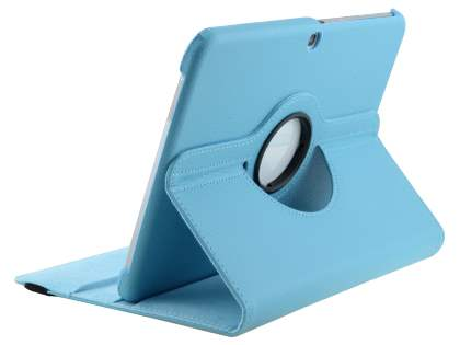 VELOCITY Synthetic Leather 360? Swivel Flip Case for Samsung Galaxy Tab 3 10.1 - Sky Blue Leather Flip Case