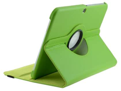VELOCITY Synthetic Leather 360? Swivel Flip Case for Samsung Galaxy Tab 3 10.1 - Green Leather Flip Case