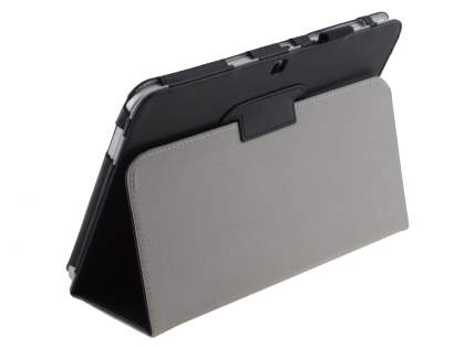 Samsung Galaxy Tab 3/4 10.1 Synthetic Leather Flip Case with Fold-Back Stand - Classic Black