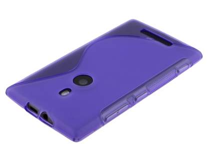 Nokia Lumia 925 Wave Case - Frosted Purple/Purple