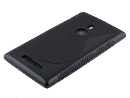 Nokia Lumia 925 Wave Case - Frosted Black/Black