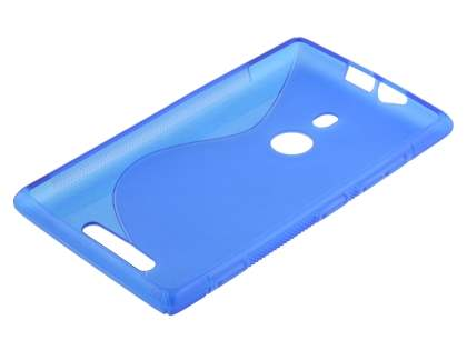 Wave Case for Nokia Lumia 925 - Frosted Blue/Blue