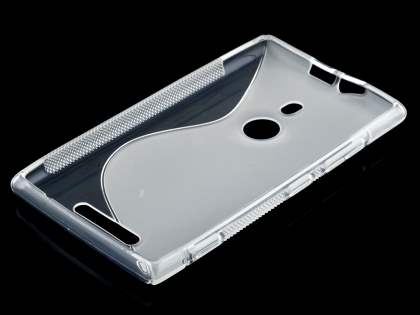 Wave Case for Nokia Lumia 925 - Frosted Clear/Clear