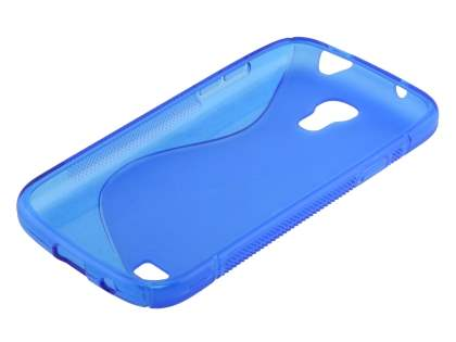 Samsung Galaxy S4 mini Wave Case - Frosted Blue/Blue