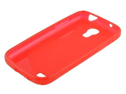 Samsung Galaxy S4 mini Wave Case - Frosted Red/Red