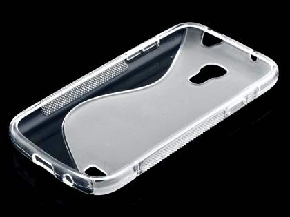 Samsung Galaxy S4 mini Wave Case - Frosted Clear/Clear