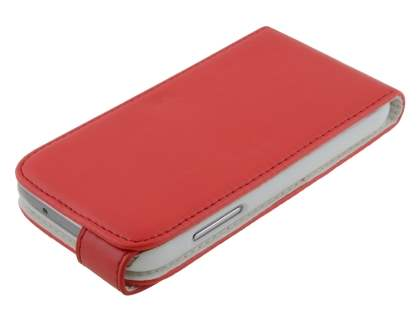 Samsung Galaxy S4 mini Synthetic Leather Flip Case - Red