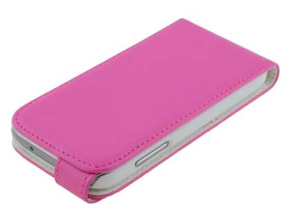 Synthetic Leather Flip Case for Samsung Galaxy S4 mini - Pink