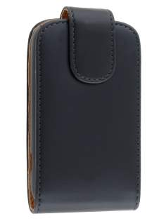 Samsung Galaxy Music S6010 Synthetic Leather Flip Case - Black