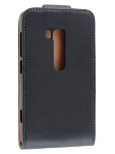 Synthetic Leather Flip Case for Nokia Lumia 810 - Black