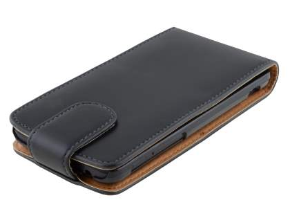 Huawei Ascend G510 Synthetic Leather Flip Case - Black