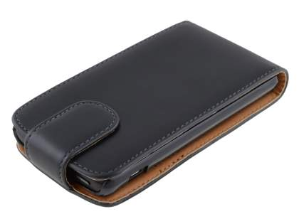 Synthetic Leather Flip Case for Huawei Ascend Y300 - Black