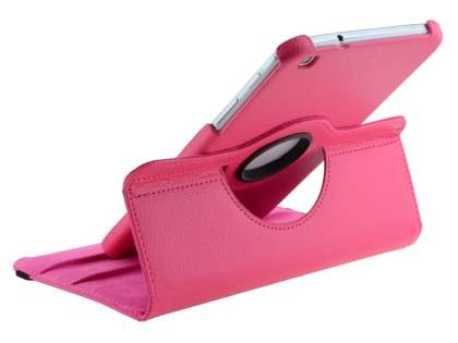VELOCITY Synthetic Leather 360? Swivel Flip Case for Samsung Galaxy Tab 3 8.0 - Pink