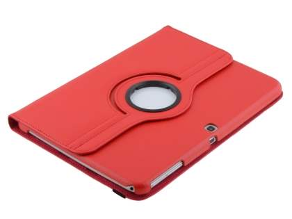 VELOCITY Synthetic Leather 360? Swivel Flip Case for Samsung Galaxy Tab 3 10.1 - Red
