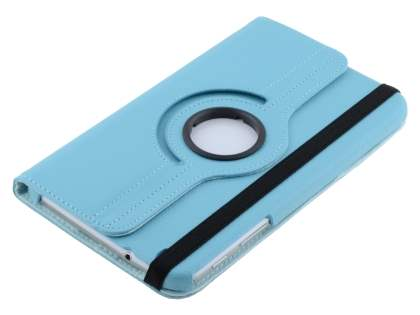 VELOCITY Synthetic Leather 360? Swivel Flip Case for Samsung Galaxy Tab 3 8.0 - Sky Blue