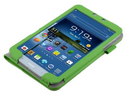 Samsung Galaxy Tab 3 8.0 Synthetic Leather Flip Case with Fold-Back Stand - Green