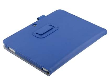 Samsung Galaxy Tab 3/4 10.1 Synthetic Leather Flip Case with Fold-Back Stand - Dark Blue