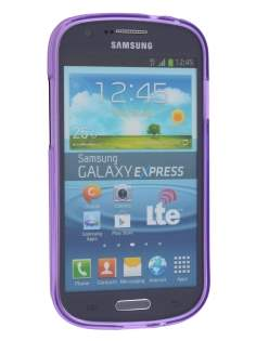 Samsung Galaxy Express i8730 Frosted TPU Case - Frosted Purple