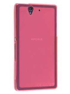 Sony Xperia Z Frosted TPU Case - Frosted Pink