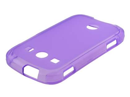Frosted TPU Case for Samsung S7710 Galaxy Xcover 2 - Frosted Purple Soft Cover