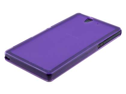 Sony Xperia Z Frosted TPU Case - Frosted Purple