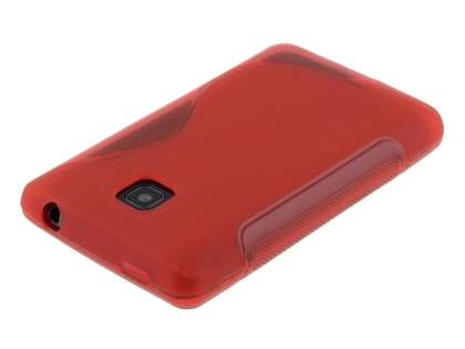 Wave Case for LG Optimus L3 II Dual E435 - Frosted Red/Red