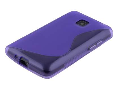 Wave Case for LG Optimus L3 II Dual E435 - Frosted Purple/Purple