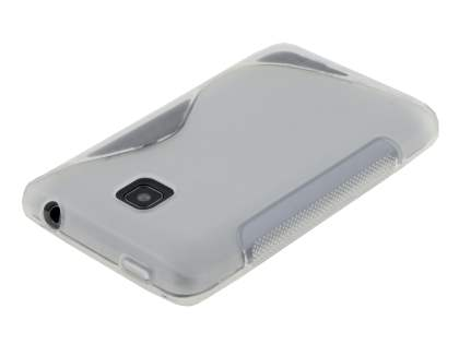 LG Optimus L3 II Dual E435 Wave Case - Frosted Clear/Clear