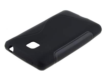 Wave Case for LG Optimus L3 II Dual E435 - Frosted Black/Black