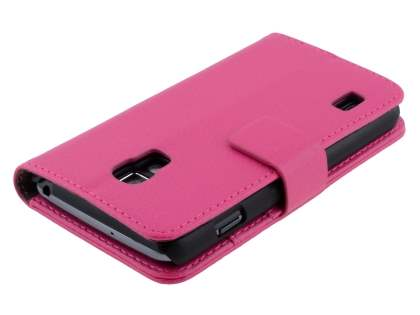 Synthetic Leather Wallet Case with Stand for LG Optimus L7 II P710 - Pink