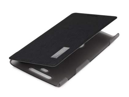 ROCK Nokia 925 Elegant Book-Style case - Classic Black/Frosted Grey