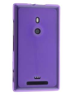 Frosted TPU Case for Nokia Lumia 925 - Purple Soft Cover