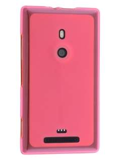 Frosted TPU Case for Nokia Lumia 925 - Pink Soft Cover
