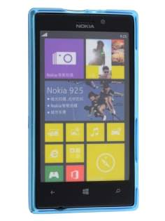 Frosted TPU Case for Nokia Lumia 925 - Blue