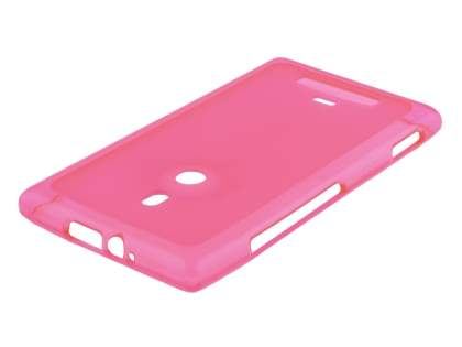Nokia Lumia 925 Frosted TPU Case - Pink