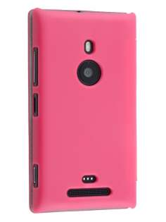 Slim Synthetic Leather Book-Style Flip Cover for Nokia Lumia 925 - Pink Leather Wallet Case