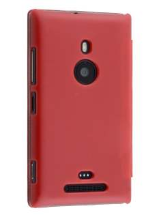 Slim Synthetic Leather Book-Style Flip Cover for Nokia Lumia 925 - Red Leather Wallet Case