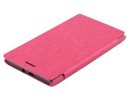 Slim Synthetic Leather Book-Style Flip Cover for Nokia Lumia 925 - Pink