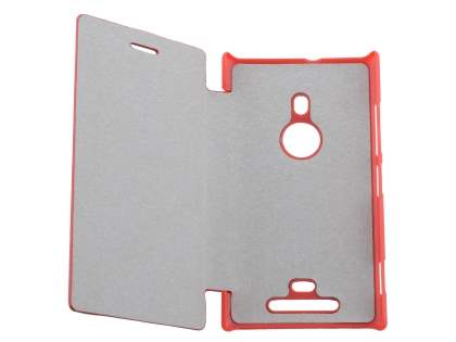 Slim Synthetic Leather Book-Style Flip Cover for Nokia Lumia 925 - Red