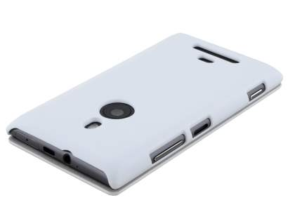 Slim Synthetic Leather Book-Style Flip Cover for Nokia Lumia 925 - Pearl White