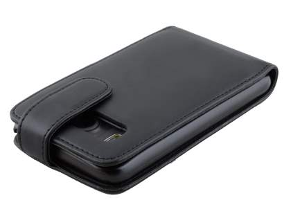 HTC Desire HD Synthetic Leather Flip Case - Classic Black