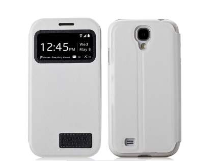 Momax Modern Vintage Stand View Case for Samsung Galaxy S4 I9500 - Pearl White