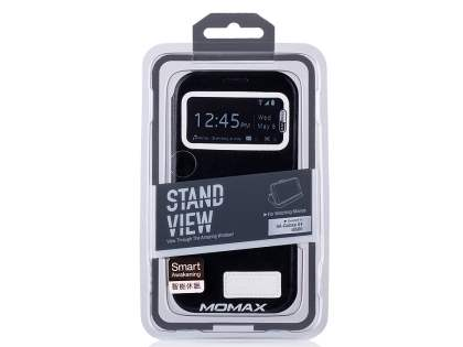 Momax Modern Vintage Stand View Case for Samsung Galaxy S4 I9500 - Night Black