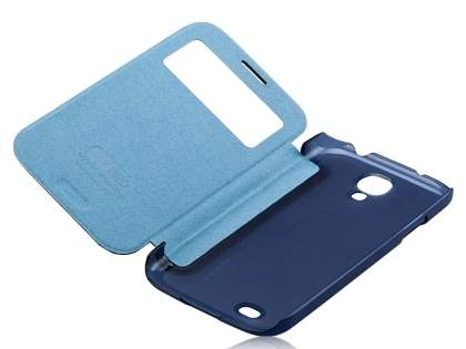 Momax Smart Flip View Case for Samsung Galaxy S4 I9500 - Night Blue